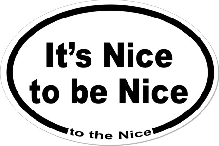 It's Nice to be Nice to the Nice logo